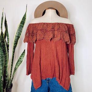 • ALTER'D STATE • crochet off the shoulder top